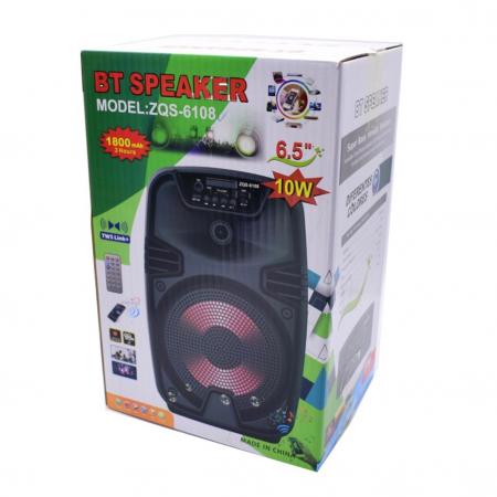 Boxa portabila ZQS 6108, 30W P.M.P.O., telecomanda, microfon [3]