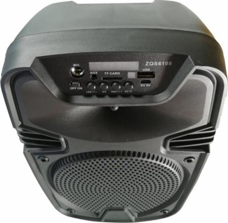 Boxa portabila ZQS 6108, 30W P.M.P.O., telecomanda, microfon [2]