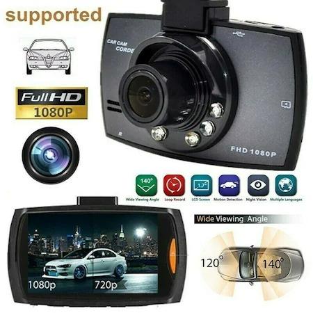 "Camera auto HD DVR Camcorder, 2.7"" inch, Night Vision, Negru [2]"