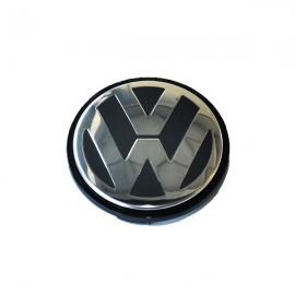 Capac Central Janta Aliaj VW Negru 55mm [0]