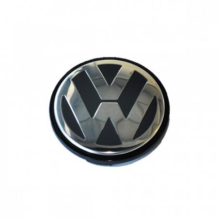 Capac Central Janta Aliaj VW Negru 55mm [1]