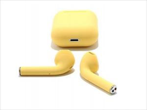 Casti Wi-Fi HD AIX, i12, Wireless, Bluetooth V5.0+, Profesionale, 3D sound, Touch Control Senzor, fast charging, POP-UPS, IPX5, microfon, compatibile cu Bluetooth  Stereo AirPods,Galben [0]