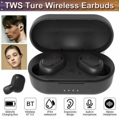 Casti Bluetooth Wireless. TWS Earbud cu Tehnologie BT 5.0 Negru [3]