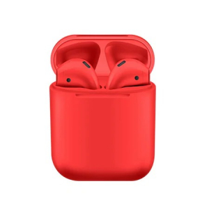 Casti Wi-Fi HD AIX, i12, Wireless, Bluetooth V5.0+, Profesionale, 3D sound, Touch Control Senzor, fast charging, POP-UPS, IPX5, microfon, compatibile cu Bluetooth  Stereo AirPods,Rosu metalizat [0]