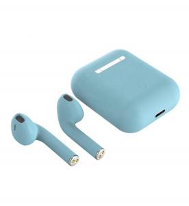 Casti Wi-Fi HD AIX, i12, Wireless, Bluetooth V5.0+, Profesionale, 3D sound, Touch Control Senzor, fast charging, POP-UPS, IPX5, microfon, compatibile cu Bluetooth  Stereo AirPods,Albastru [2]