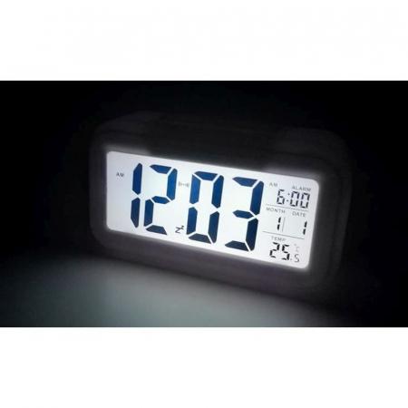 Ceas digital LCD, senzor pentru iluminare, alarma, termometru, calendar 1019 [1]