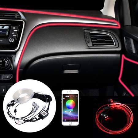 Banda LED Excellence auto, lumini ambientale premium, lungime 5M, aplicatie dedicata iOS, Android [1]