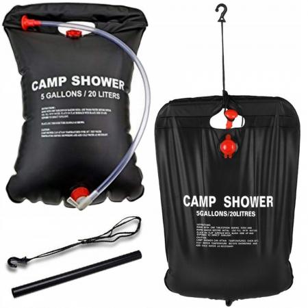 Dus solar pentru camping, PVC, reglabil, 20 litri [0]