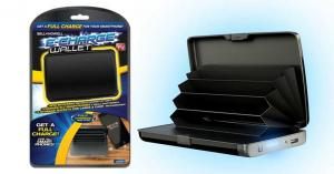 Portofel Carduri securizat RFID si Incarcator Baterie Externa 2in1 E-Charge Wallet negru [2]