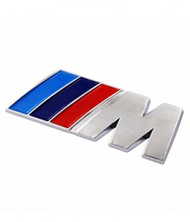 Emblema M Power pentru BMW, 80mm x 30mm crom [0]