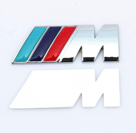 Emblema M Power pentru BMW, 80mm x 30mm crom [1]