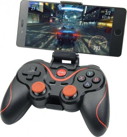 Gamepad Bluetooth,pentru telefon,laptop,tableta,PC,Smart TV, Smart Box,acumulator integrat,multiple functii,negru [0]