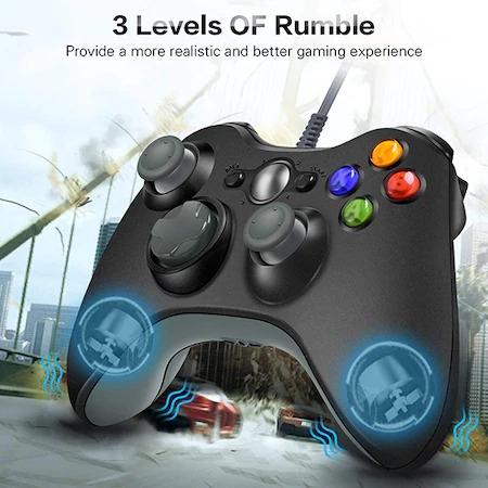 Gamepad , Controller Pentru Xbox 360 , PC , Laptop Cu Fir , Lungime Cablu 2 Metri [0]