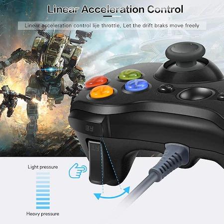 Gamepad , Controller Pentru Xbox 360 , PC , Laptop Cu Fir , Lungime Cablu 2 Metri [2]