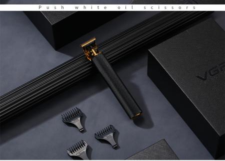 Aparat de tuns profesional pentru contur VGR V179 , fara fir , incarcare USB , negru [1]
