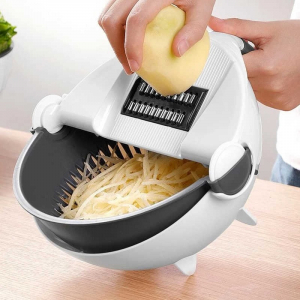 Feliator de legume cu strecurator, Vet Basket Vegetable Cutter [0]