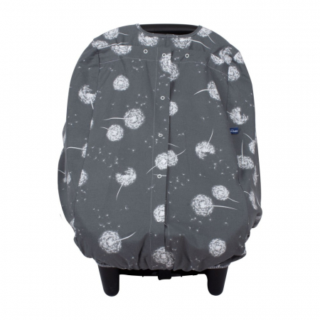 Husa protectie scaun auto Sevibebe Dandelion Grey [1]