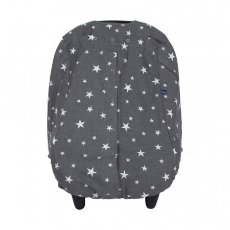 Husa protectie scaun auto Sevibebe Grey stars [1]