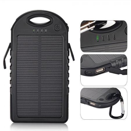 Baterie Externa Power Bank 5000 mah Incarcare Solara Baterie Urgenta C152 [4]