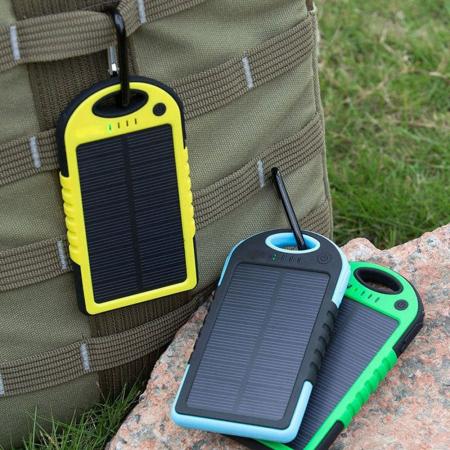 Baterie Externa Power Bank 5000 mah Incarcare Solara Baterie Urgenta C152 [0]