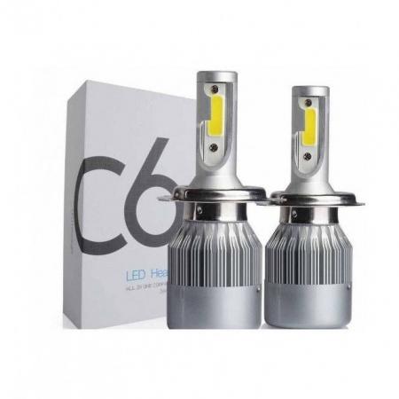 Kit 2 LED-uri auto h4 36w/3800 lumeni 6000k C6, auto, 12 volti [2]
