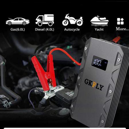 Kit pornire automobil portabil cu baterie externa 10.000 si cabluri de pornire auto [0]