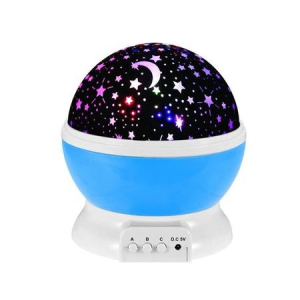 Lampa de Veghe BTG-090 cu Proiector Rotativ Stele 360 Star Master Alb-Albastru [0]