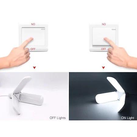 Lampa pliabila LED, tip elice, cu 3 brate, 45 w, soclu E27, clasa energetica A, long life 40000 h [7]