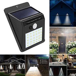 Lampa solara de perete cu senzor de lumina si miscare cu 30 leduri [0]