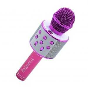 Microfon Wireless Kararoke WS-858 Card SD Roz [0]