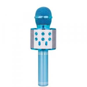 Microfon Wireless Kararoke WS-858 Card SD Albastru [0]