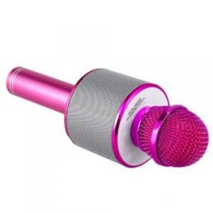 Microfon Wireless Kararoke WS-858 Card SD Roz [1]