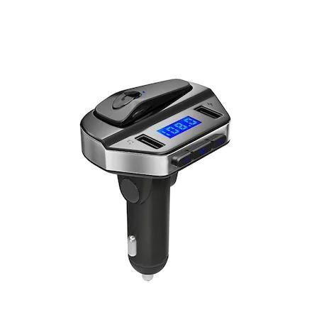 Modulator FM MP3 Player + handsfree cu casca bluetooth V4.2 V6 [3]