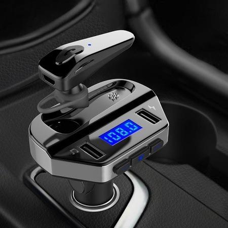 Modulator FM MP3 Player + handsfree cu casca bluetooth V4.2 V6 [0]