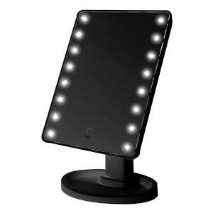 Oglinda cu led pentru machiaj, Barste, functie touchscreen Negru [2]