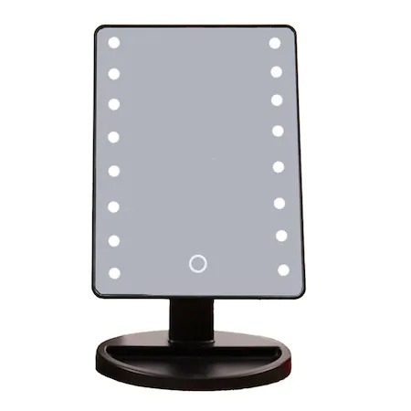 Oglinda cu led pentru machiaj, Barste, functie touchscreen Negru [5]