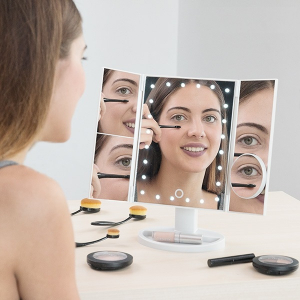 Oglinda cosmetica rotativa Led-uri cu variator pentru make-up [0]