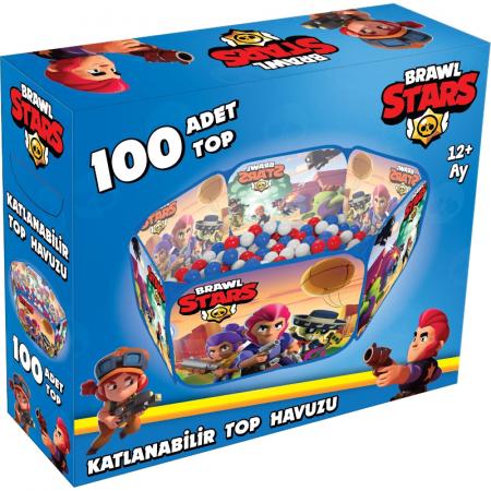 Piscină cu bile pliabilă Brawl Stars 100 de bucăți Bile pentru piscină [1]