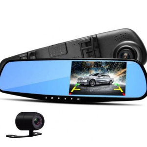 Oglinda retrovizoare cu camera dubla fata-spate si ecran 4 inch [0]