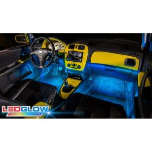 Kit Iluminare Ambientala 12 LED Interior Masina, Multicolor RGB cu Telecomanda [1]