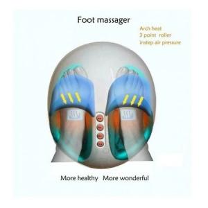 Aparat de masaj pentru picioare Shiatsu, 3 trepte intensitate, functie de incalzire, timer 5-30min, telecomanda, 40 W, alb/albastru [4]