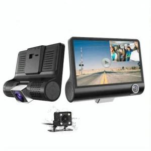 Camera Video Auto Tripla DVR, L300-1, Full-HD, 3 Camere - Fata/Spate/Interior, Ecran 4'', G Senzor, 170 grade [1]