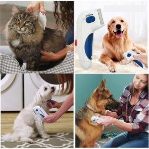 Aparat electric contra puricilor pentru caini, pisici si alte animale, Flea Doctor, Alb cu albastru [2]