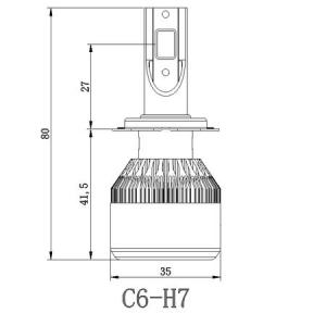 Kit 2 LED-uri auto h7 36w/3800 lumeni 6000k C6, auto, 12 volti [3]