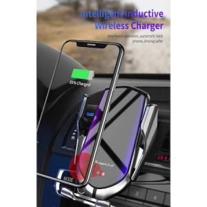 Incarcator Wireless Auto universal, cu Senzor inteligent, suport SMART Fast Charger 10W, clema prindere ventilatie [2]