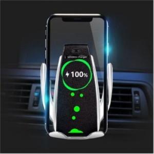 Suport auto cu incarcare wireless si smart sensor Gri,R5 [1]
