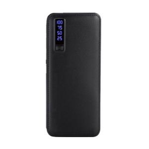 Baterie externa 20000mAh, Fast Charging, Powerbank piele ecologica bej [1]
