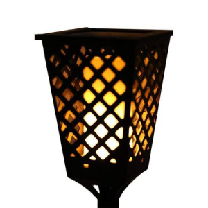 Lampa solara neagra Tiki Light cu efect flacara [3]