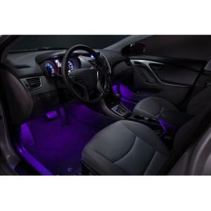 Kit Iluminare Ambientala 12 LED Interior Masina, Multicolor RGB cu Telecomanda [2]