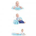 Saltea multifunctionala Sit and Play cu bara jucarii Brown [1]